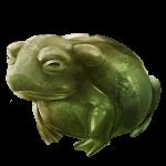 Jade Frog Statue
