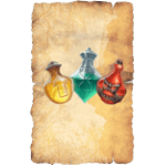 Potion sheets from the mausoleum job